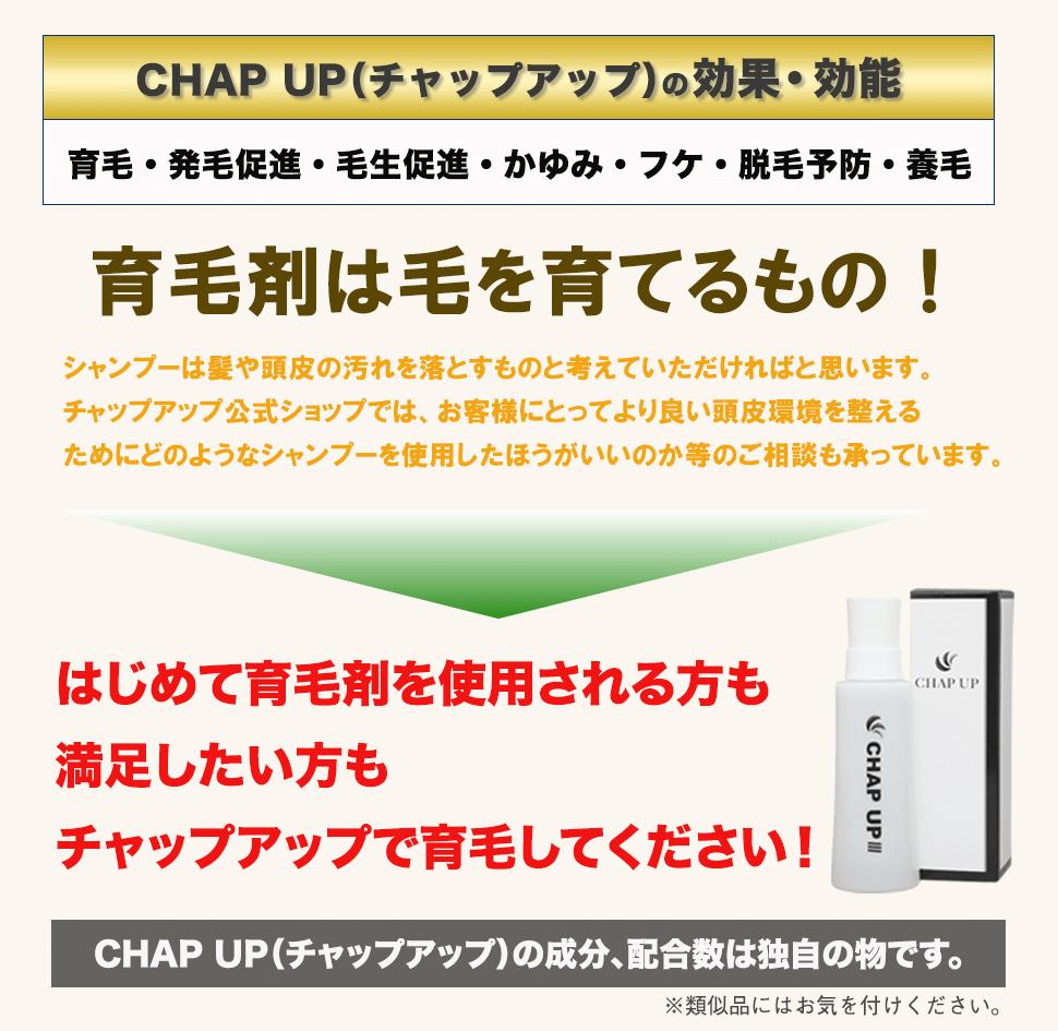 CHAP UP(チャップアップ)の効果・効能
