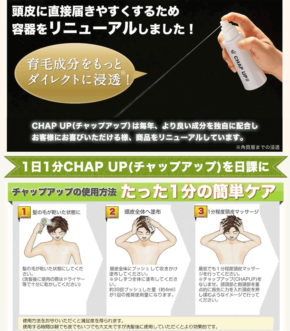 CHAP UP(チャップアップ)は毎年リニューアルしています